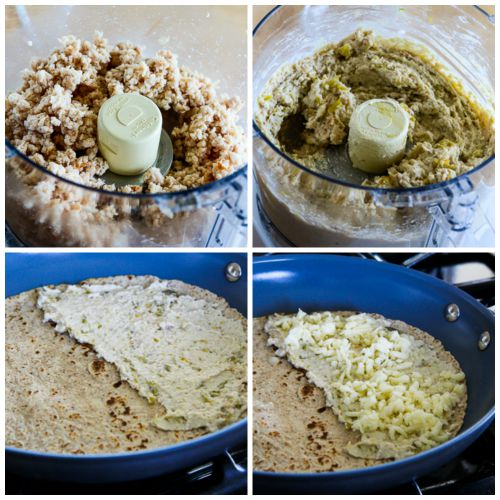 ... Kitchen®: Low-Carb Green Chile Quesadillas with Turkey and Cheese