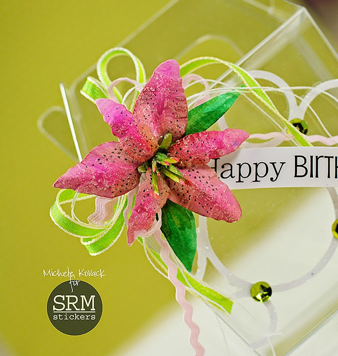 SRM Stickers blog - Happy Birthday Box by Michele - #takeoutbox #birthday #stickers #DIY
