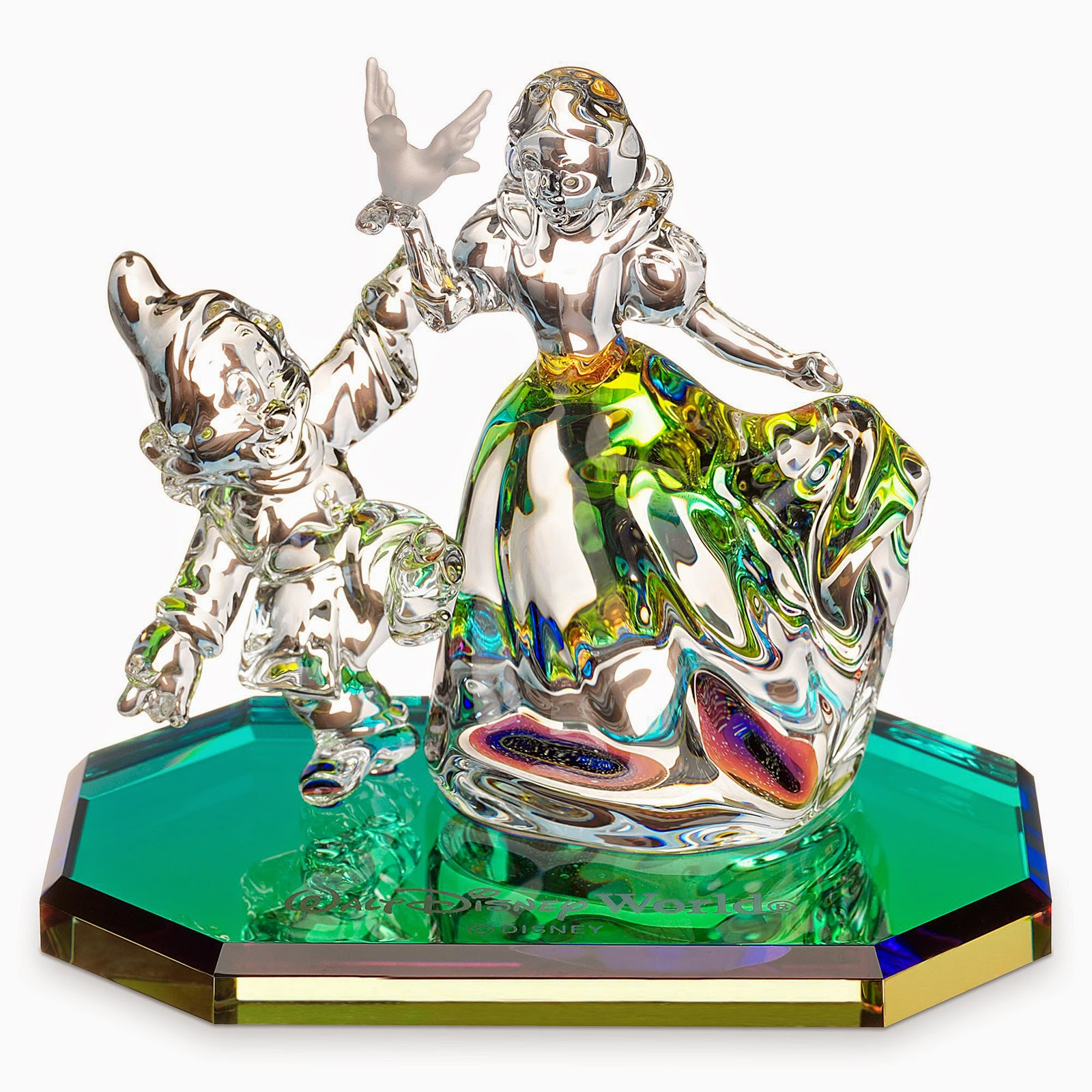Disney Frosted Glass Figurines