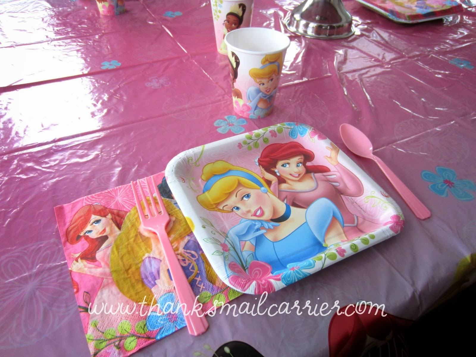 princess party plates