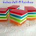 Cubes Jell-O rainbow