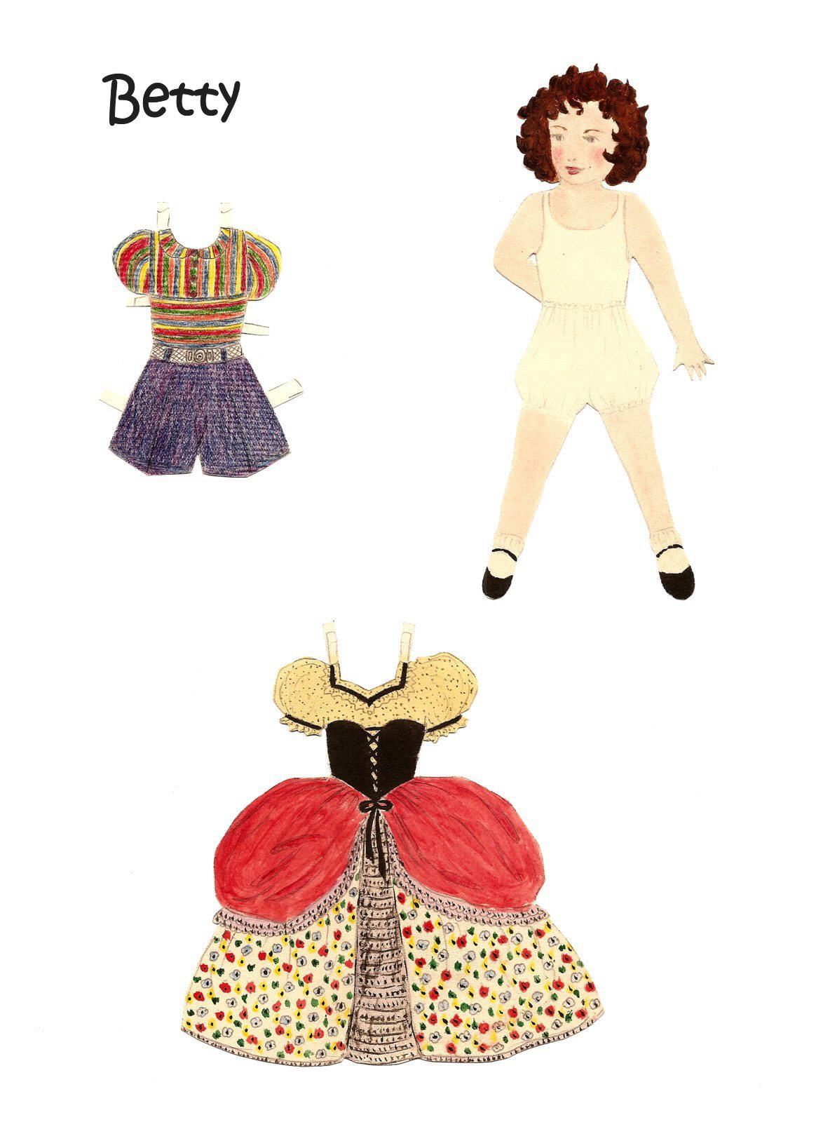 Karen`s Collection of Homemade Vintage Paper Dolls.