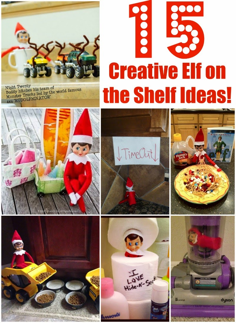 15 Creative Elf on The Shelf Ideas - Poofy Cheeks