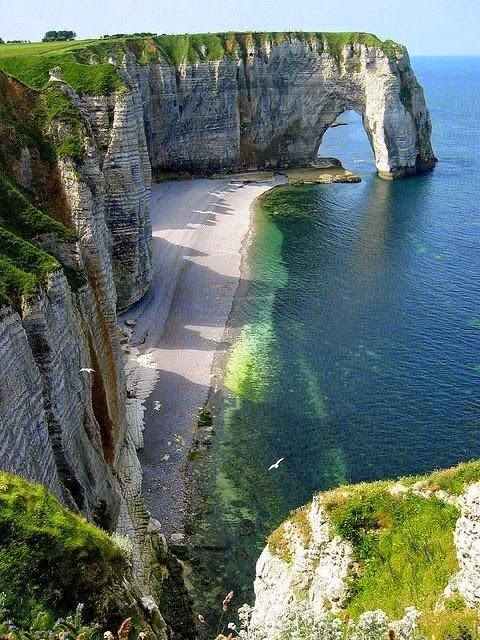 The cliffs of Etretat, France