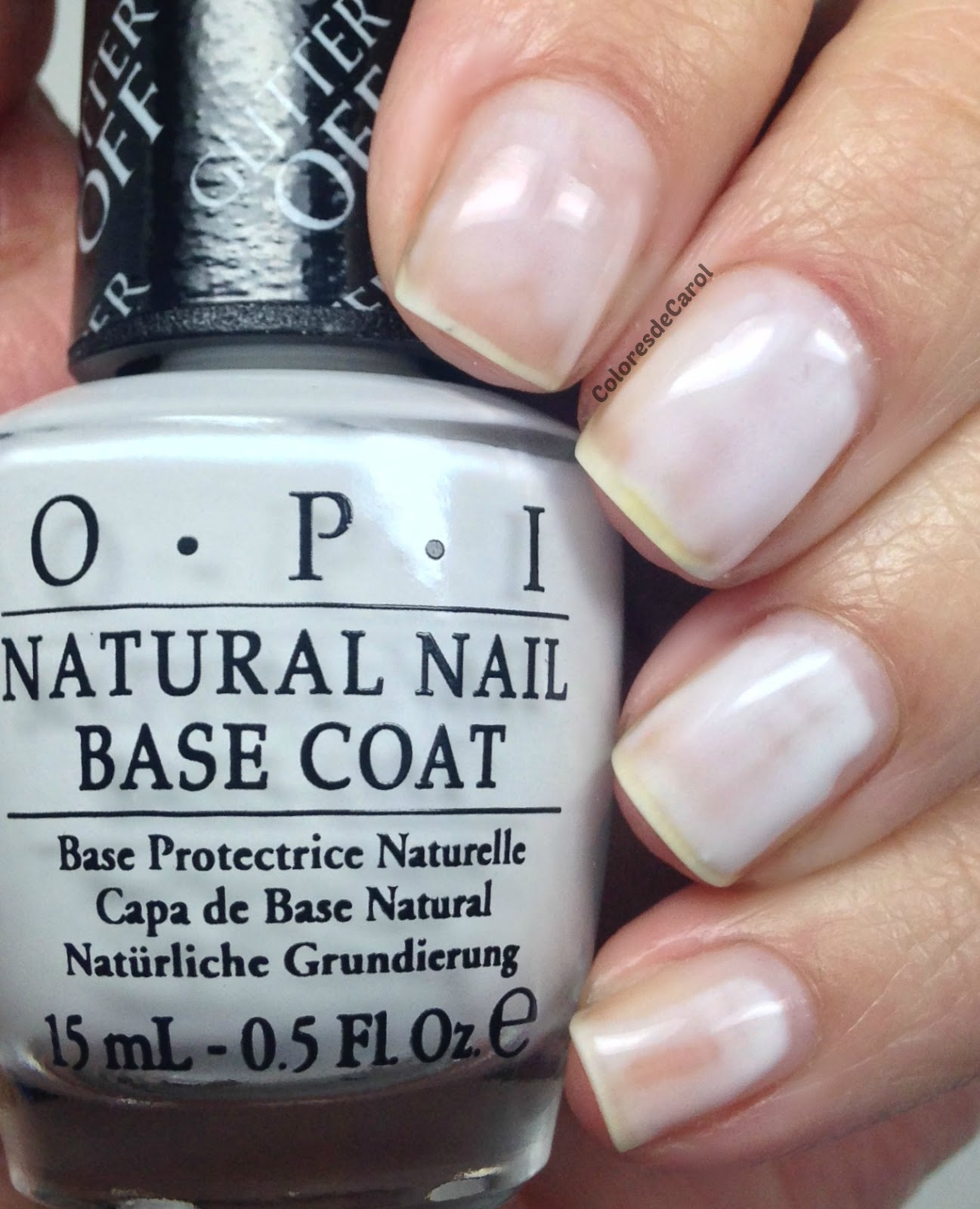 Colores de Carol: Glitter Off by OPI (Peel-able Base Coat) Review
