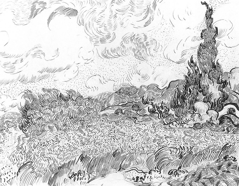 Moderno Dibujos De Van Gogh Composición - Enmarcado Para Colorear ...