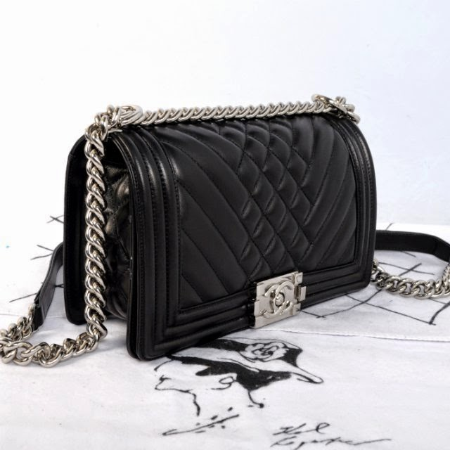 Boy Chanel Flap Bag Black Silver Hardware