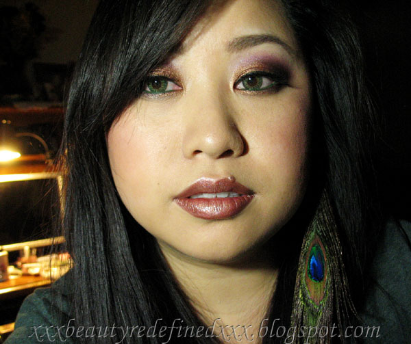 beautyredefined by pang  amber sunset makeup look  with my