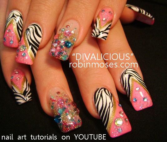 """Robin Moses Nail Designs: Robin Moses Nail Art: """"diva Nail Art"""" """"long Nail Art"""