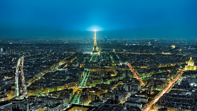 HDR,blue hour,paris,france,tour eiffel, cityscape, dusk, night, lights