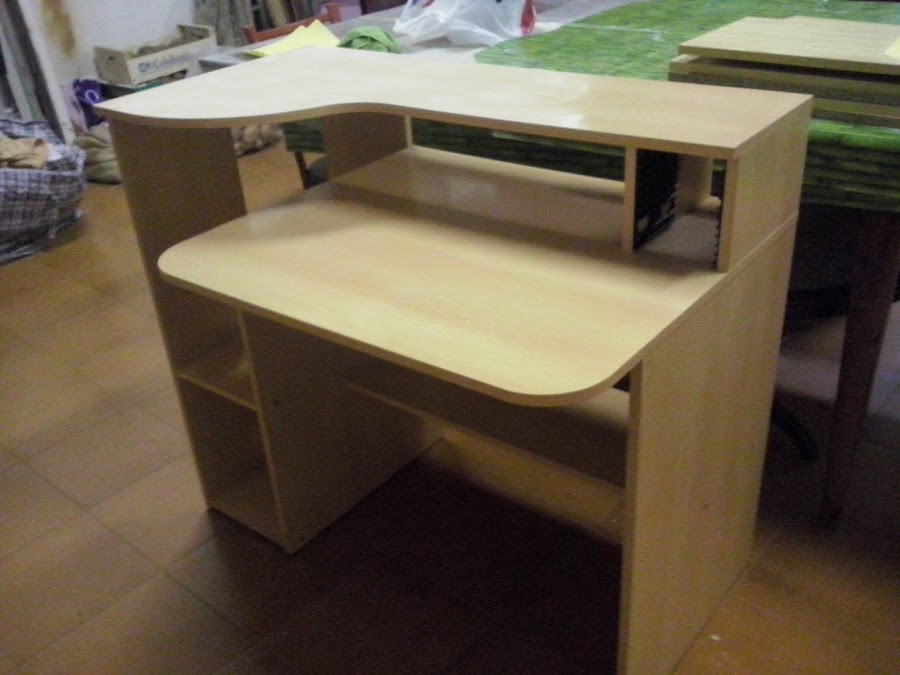 Mesa de estudio for Como reciclar un escritorio de madera
