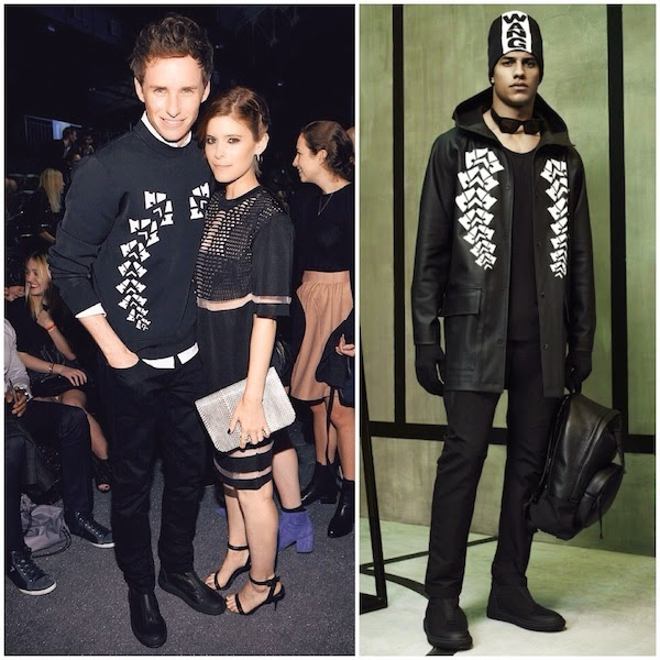 Eddie Redmayne and Kate Mara at Alexander Wang x HM launch New York October 2014 #AlexanderWangxHM