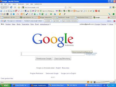 Merubah Homepage ke Google