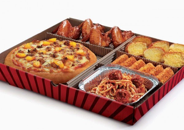 pizza hut all in one box delicious