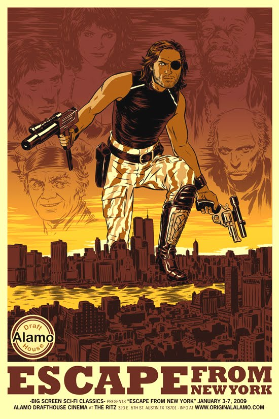 Bloody Pit of Rod: ESCAPE FROM NEW YORK (1981) poster art