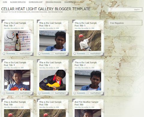 Cellar Heat Light Gallery Blogger Theme
