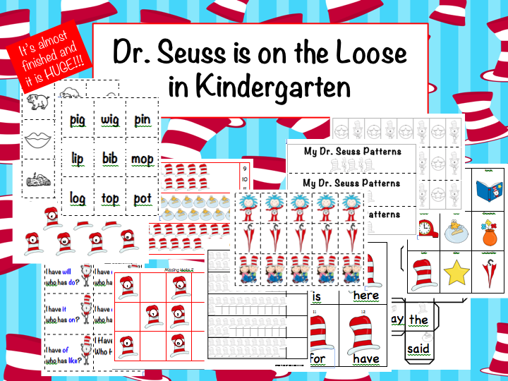 math worksheet : time 4 kindergarten february 2012 : Dr Seuss Kindergarten Worksheets