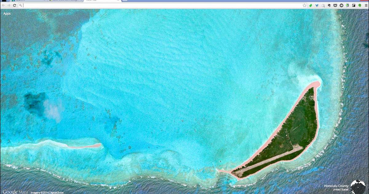 Google 地圖官方 Chrome 新分頁鳥瞰藝術般衛星照片