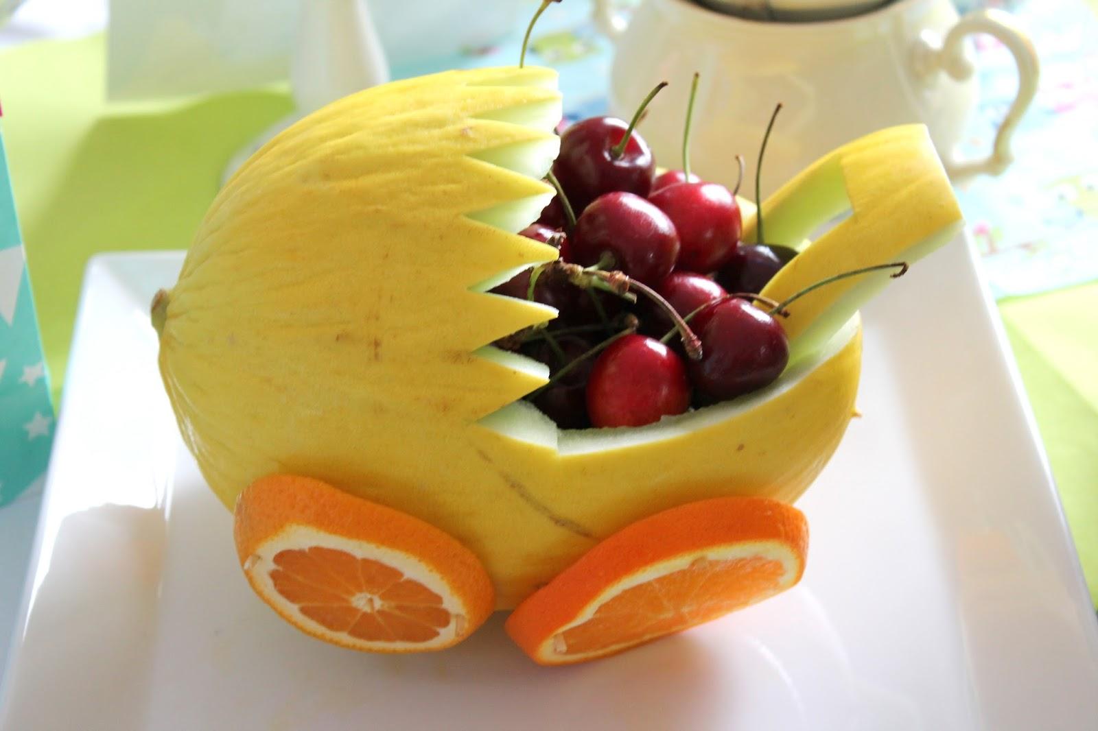 Kinderwagen Melone Babyshower