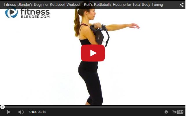 Fitness Blender's Beginner Kettlebell Workout - Kell's Kettlebells Routine for Total Body Toning