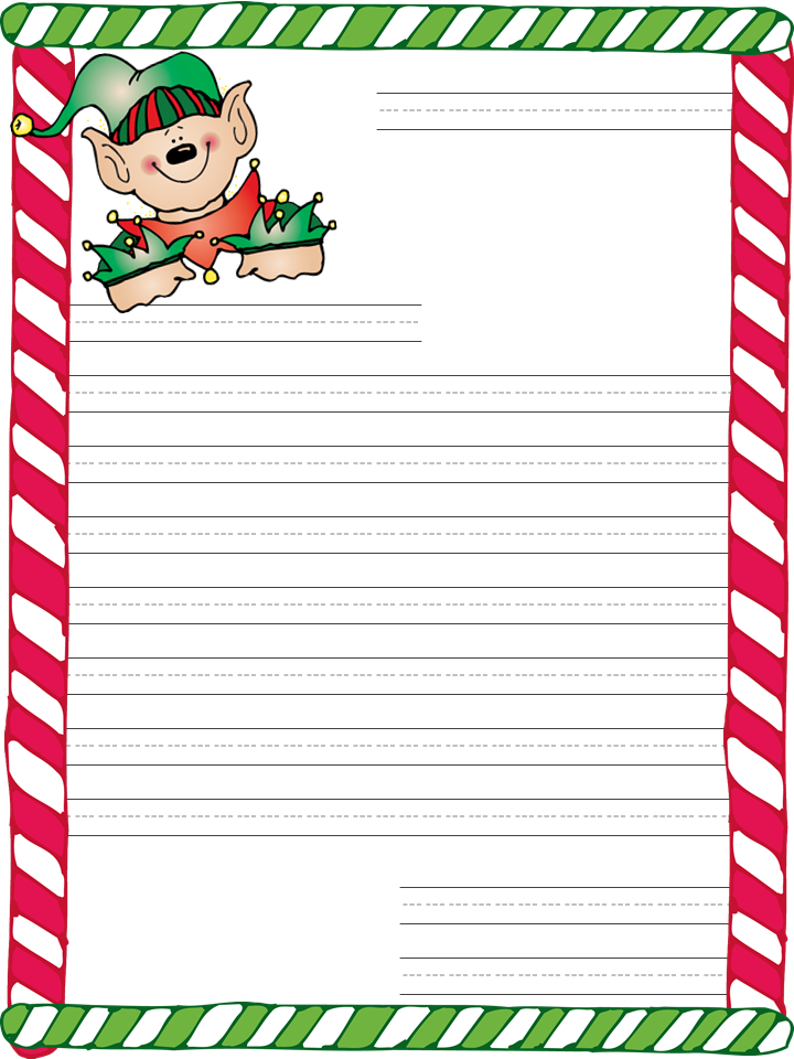 Clean image inside printable christmas letter paper