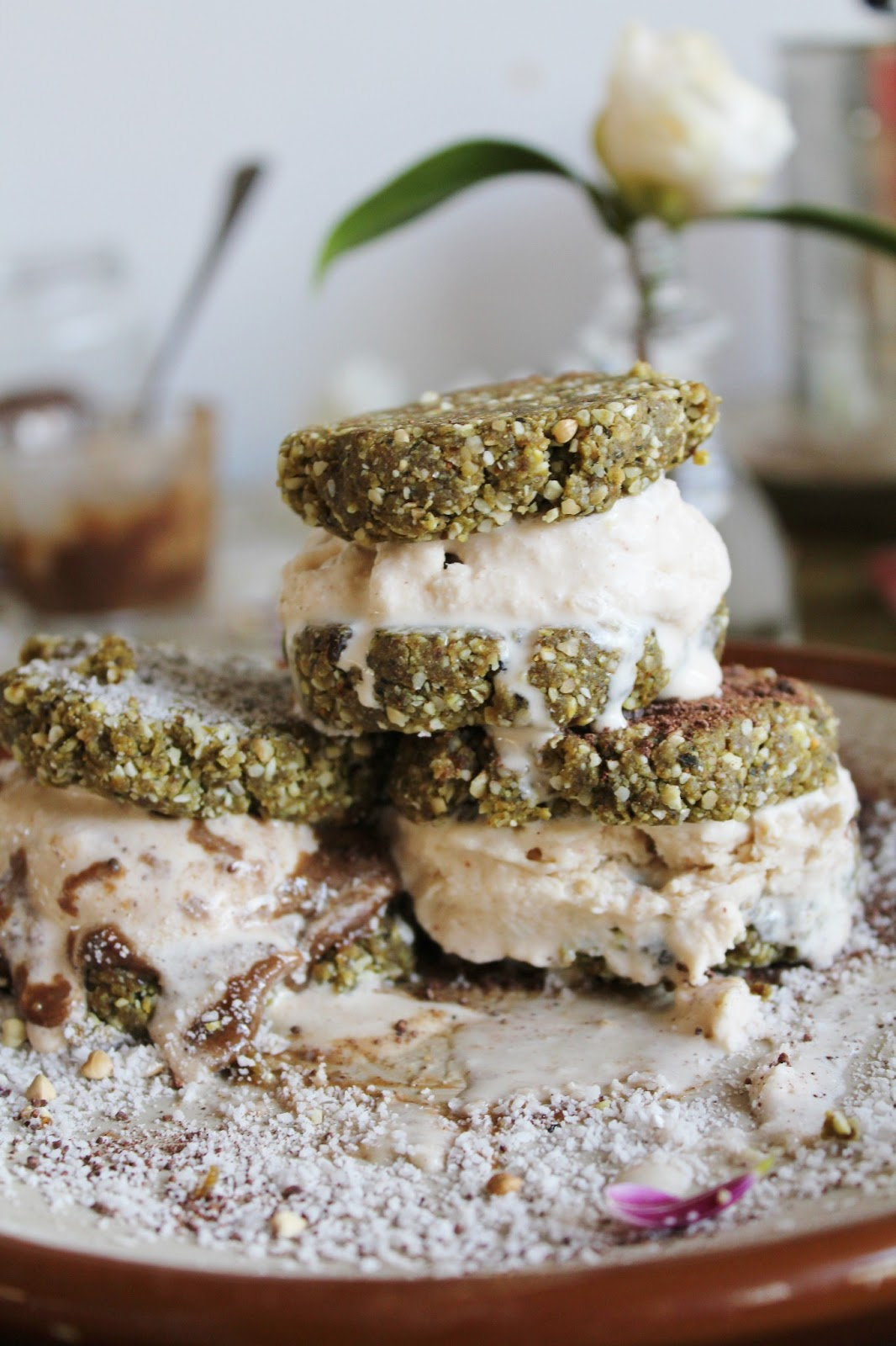 ... Vegan Life: basil + peanut butter cookies with coconut + chili ice