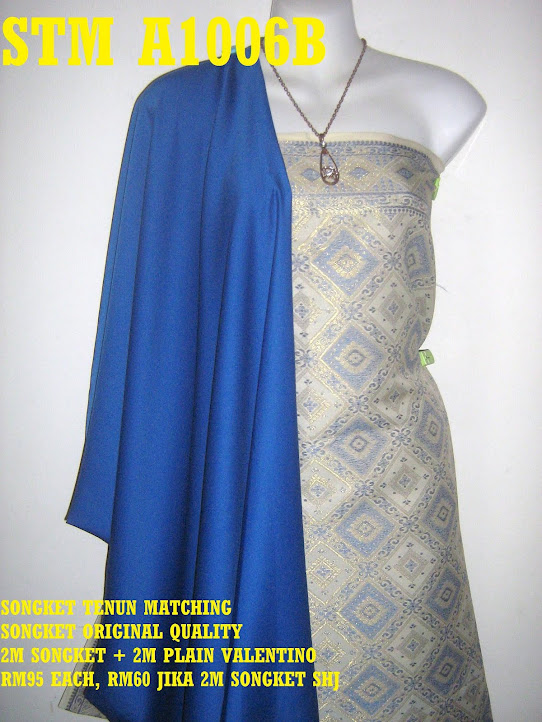 STM A1006B: SONGKET TENUN MATCHING, HIGH QUALITY, 2M SONGKET + 2M PLAIN
