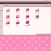 A Cute Girl Pink Theme For Ubuntu 11.10 Oneiric Ocelot