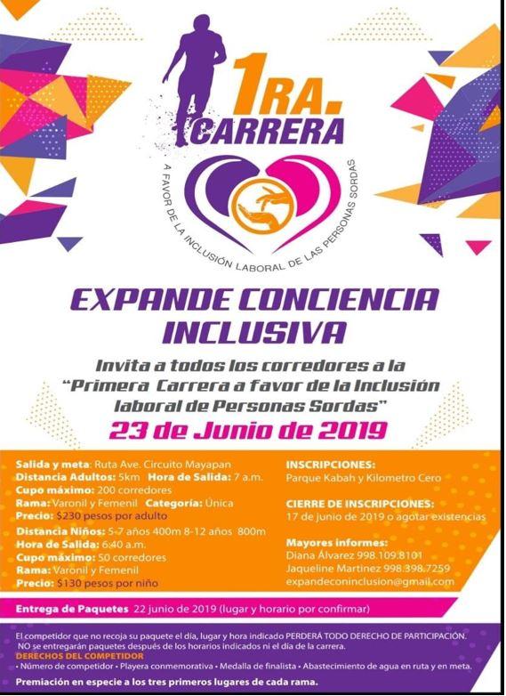1 ra Carrera Expande Conciencia inclusiva