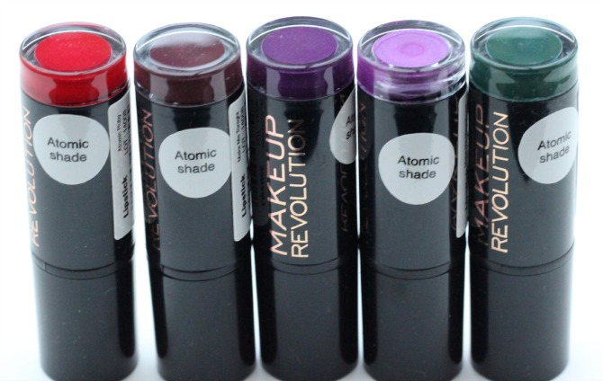Makeup Revolution Atomic lipsticks