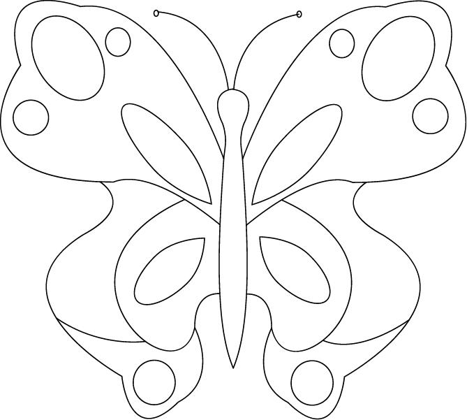 Shawkl free butterfly pattern for Butterfly template free