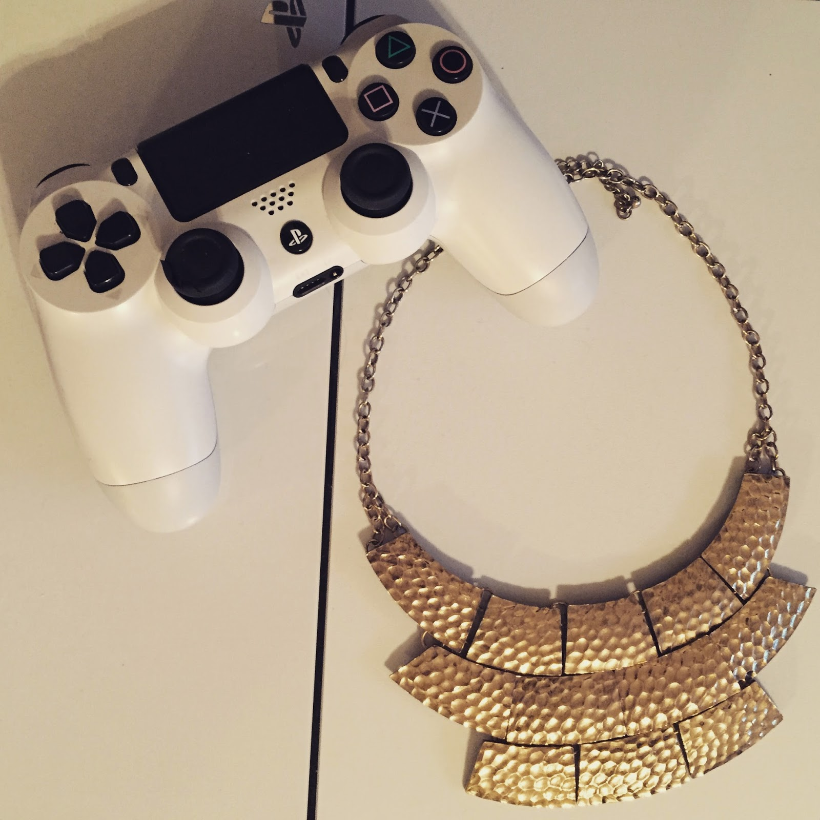 playstation and necklace guy and girl