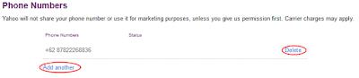 cara ganti no hp di email yahoo