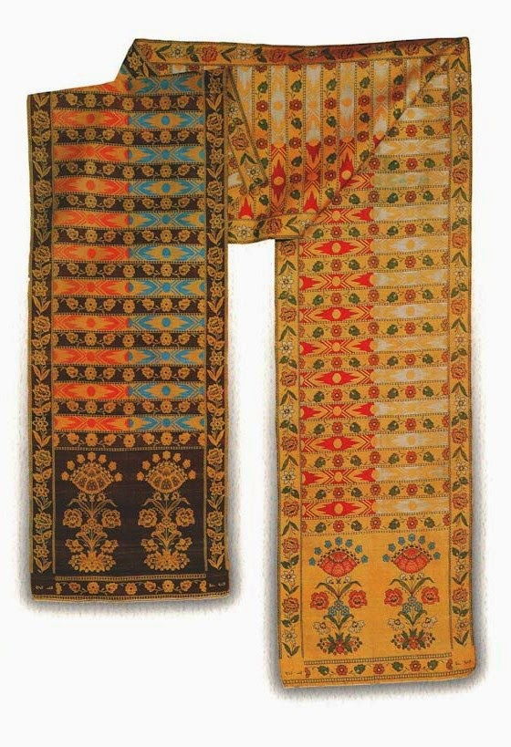 Textiles of Belarus, beautiful Sluck sash