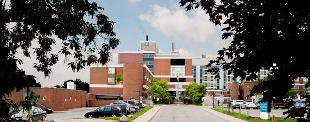 main entrance off Dunlop Street of the Orillia Soldier's Memorial Hospital
