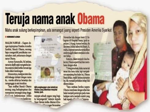Terima Kritikan Sebab Bagi Nama Anak OBAMA