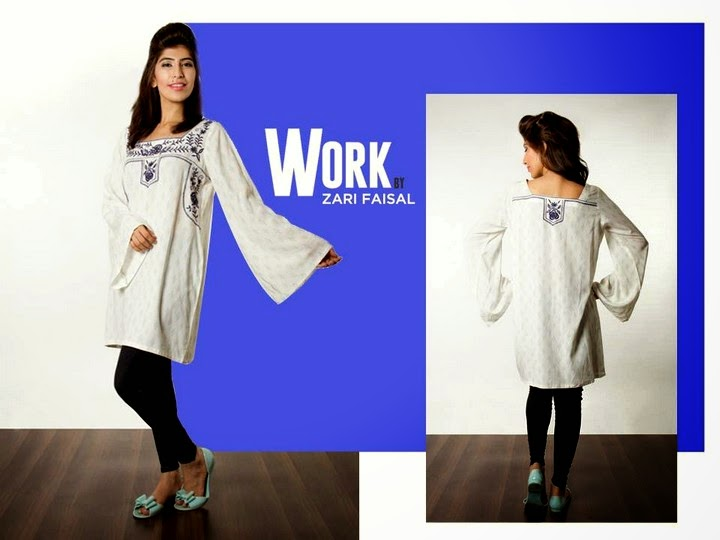 Work Eid Dress Collection 2014 Launched by Zari Faisal