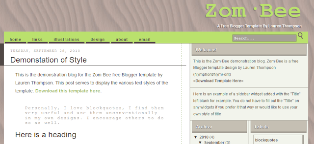 Classic Blogger Template