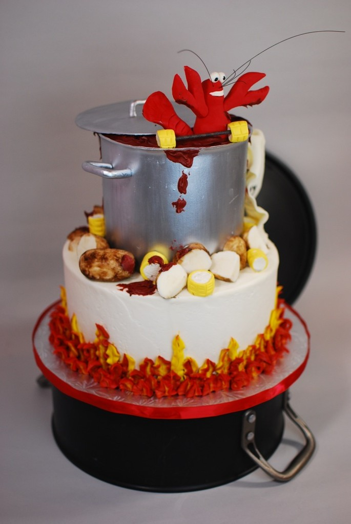 Crawfish Boil Birthday Cake