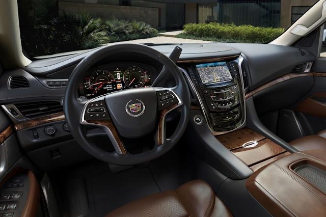 Changes Cadillac Escalade for 2015 interior view