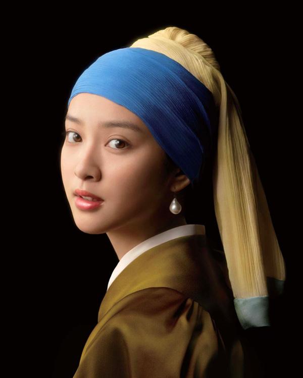 有名な絵画の女性になる武井咲