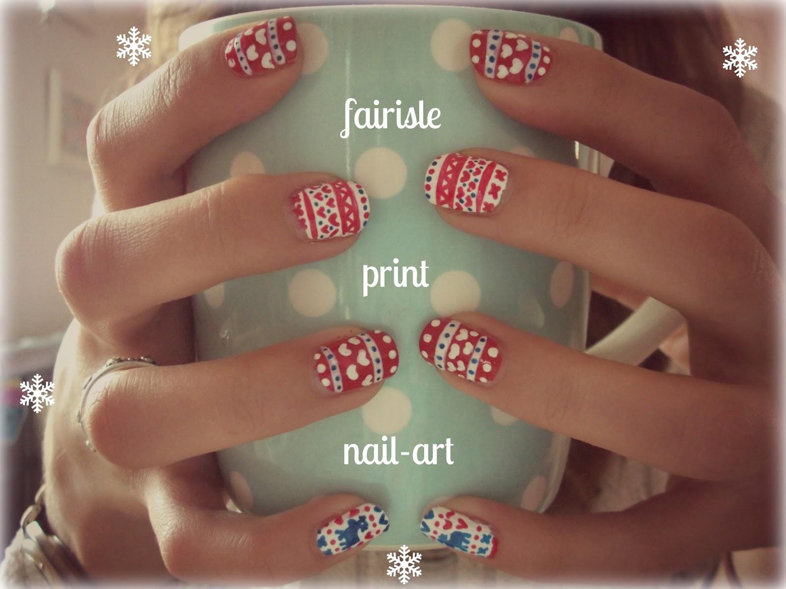 Love from Lisa: Fairisle Nails