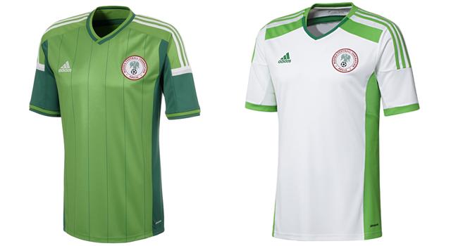 Camisetas selección Nigeria Mundial 2014