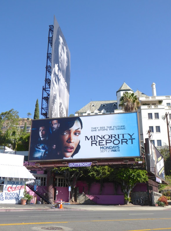 Minority Report series launch billboard