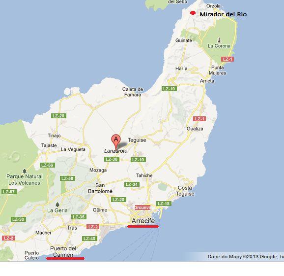 Mapa Lanzarote
