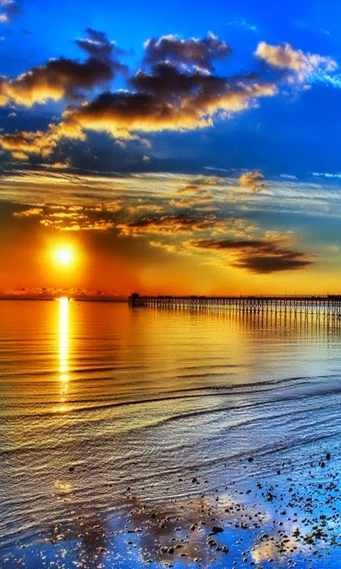stunning sunset dreamy nature