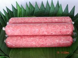 แหนม_Minced Pork and Ground Rice_生豚肉の発酵ソーセージを焼いたもの