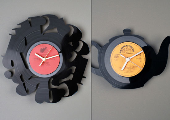 Vinyl Record Clock Ideas