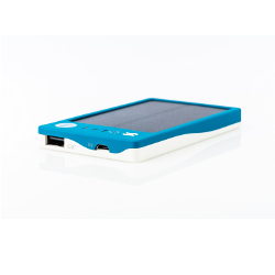 Solpro Gemini 2800mAh Solar Charging Power Bank, White/Blue