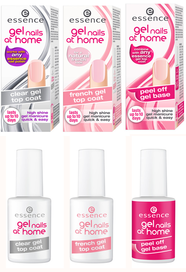 essence gel nails at home smalto unghie top coat in gel per la